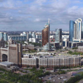 Skyline of Nur-Sultan, Kazakhstan